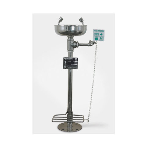 SS Eye Wash Foot Pedal Operated