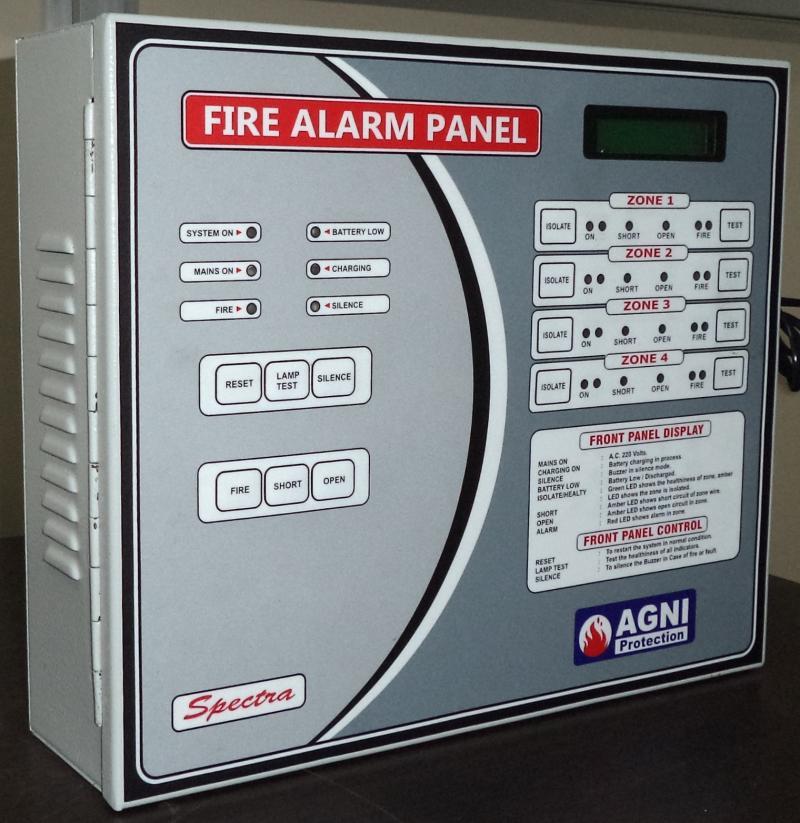 8 zone fire alarm panel agni